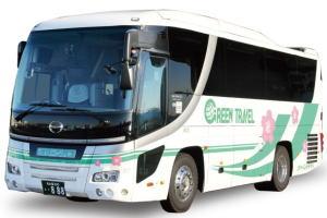 中型バス(本席27席,サロン席可能,9m,有料道路代は大型)