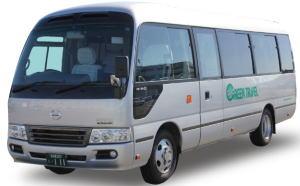 マイクロバス(本席20席,補助席8席,7m,有料道路代は中型)